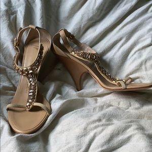 Giuseppe Zanotti Tan Heels with Embellishment
